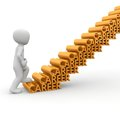 The career ladder is a challenge for the employee a large company Royalty Free Stock Images