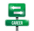 Career options road sign illustration design over white Stock Images