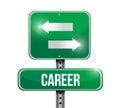 Career options road sign illustration design over white Stock Images