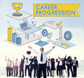 Career Progression Promotion Achievement Success Concept Royalty Free Stock Photo