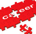 Career Puzzle Showing Working Plans Royalty Free Stock Image