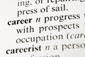 Career selective focus on the taken from a dictionary Royalty Free Stock Images