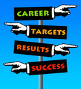 Career success Stock Images