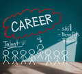 Careers employment job recruitment occupation concept Stock Images