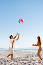 Carefree beachball fun Royalty Free Stock Images