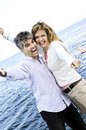 Carefree mature couple Royalty Free Stock Images