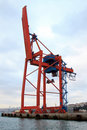 Cargo container crane Stock Photos