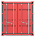 Cargo Container Front. Stock Photos