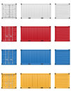 Cargo Container Vector Illustr...