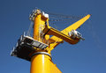 Cargo crane on blue sky Royalty Free Stock Image