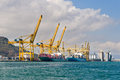 Cargo Cranes Royalty Free Stock Images