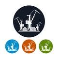 Cargo cranes icon,logistics icon
