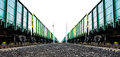 Cargo freight train Royalty Free Stock Photo