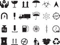 Cargo icons set of illustrated on white Royalty Free Stock Image
