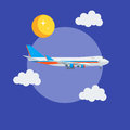 Cargo jet airplane flying in the sky Royalty Free Stock Photo