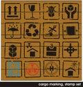 Cargo marking stamp set