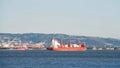 Cargo Ship CAP PALMERSTON at anchor in the San Francisco Bay Royalty Free Stock Photo