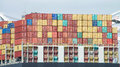 Cargo Ship MSC ARIANE with thousands of shipping containers Royalty Free Stock Photo