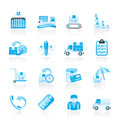 Cargo, shipping and delivery icons Royalty Free Stock Photos