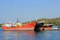 Cargo ships in Croatia Royalty Free Stock Photo