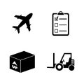 Cargo. Simple Related Vector Icons