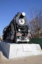The cargo steam locomotive Royalty Free Stock Photo