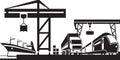 Cargo terminal scene