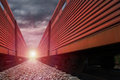 Cargo train Royalty Free Stock Photo