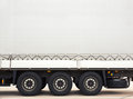 Cargo truck space for text on trailer Stock Images