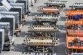 Cargo trucks on the flight field Royalty Free Stock Photo