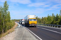Cargo trucks on the road Royalty Free Stock Image