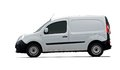 Cargo van car side view on white background Stock Photo