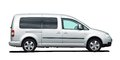 Cargo van car on a white background Stock Photography