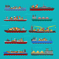 Cargo vessels and tankers shipping delivery bulk carrier train ferry freight industrial goods boat tankers isolated
