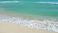 Caribbean beach in cancun mexico with white sand and waves at the atlantic ocean Stock Image