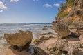 Caribbean beach in guadeloupe plage de l anse laborde Stock Photo