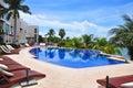 Caribbean Beach Resort, Mexico Royalty Free Stock Photo