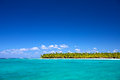 Caribbean beach tropical in saona island sea dominican republic Stock Images