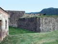 Caribbean fortification historic at guadeloupe france Stock Images