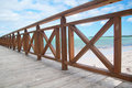 Caribbean pier Stock Photo