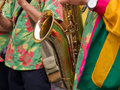 Caribbean Samba style saxophone player Stock Photos