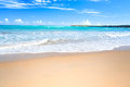 Caribbean sea beach and blue sky Stock Image