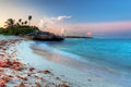 Caribbean Sea at magical sunset Royalty Free Stock Photo