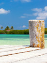 Caribbean sea scenery on contoy island mexico Stock Images