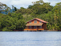 Caribbean stilt house Stock Image