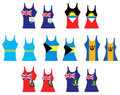 Caribbean Tank Tops Royalty Free Stock Photo