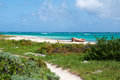 Caribe maroma beach is situated near of cancun mexico Stock Photography