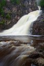 Caribou falls in northern minnesota Royalty Free Stock Image
