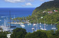 The Caribs. The Island Of Saint Lucia. Royalty Free Stock Photo