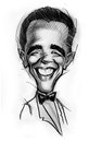 Caricature of Barak Obama Stock Photos